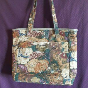 Jade Brand Large Tapestry Dog Purse Shoulder Bag